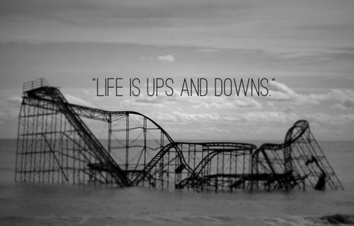 On the ups and downs that inevitably come with change.