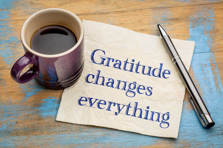 On feeling grateful and givingthanks.